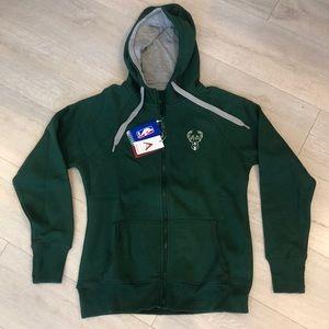 Milwaukee Bucks zip up hoodie
